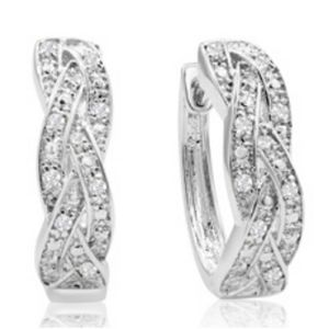 1/4ct Oval Shape Diamond Infinity Hoop Earrings